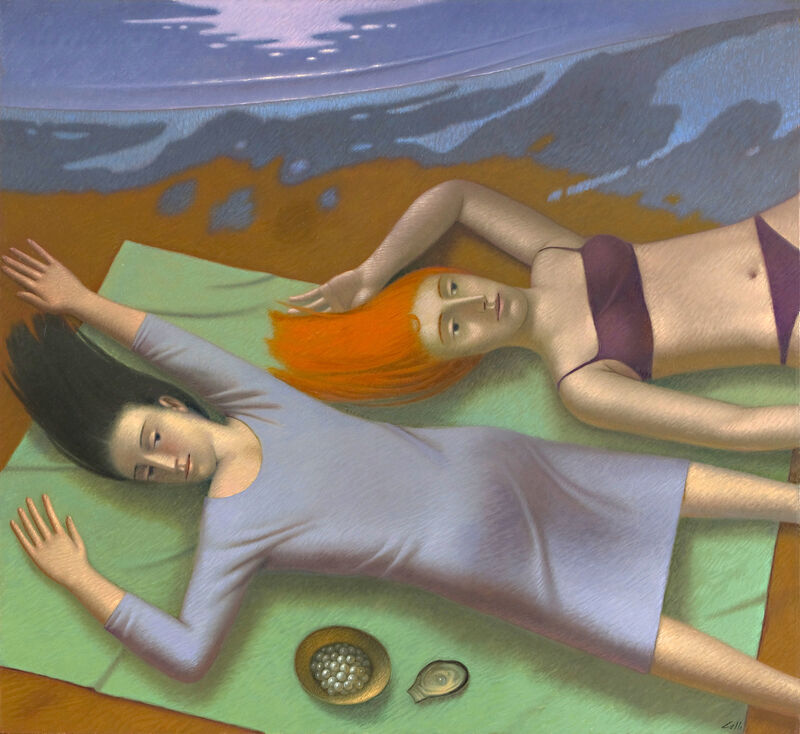 Vincenzo Calli, 'Pescatrici di Perle', Painting, Oil on linen, Nüart Gallery