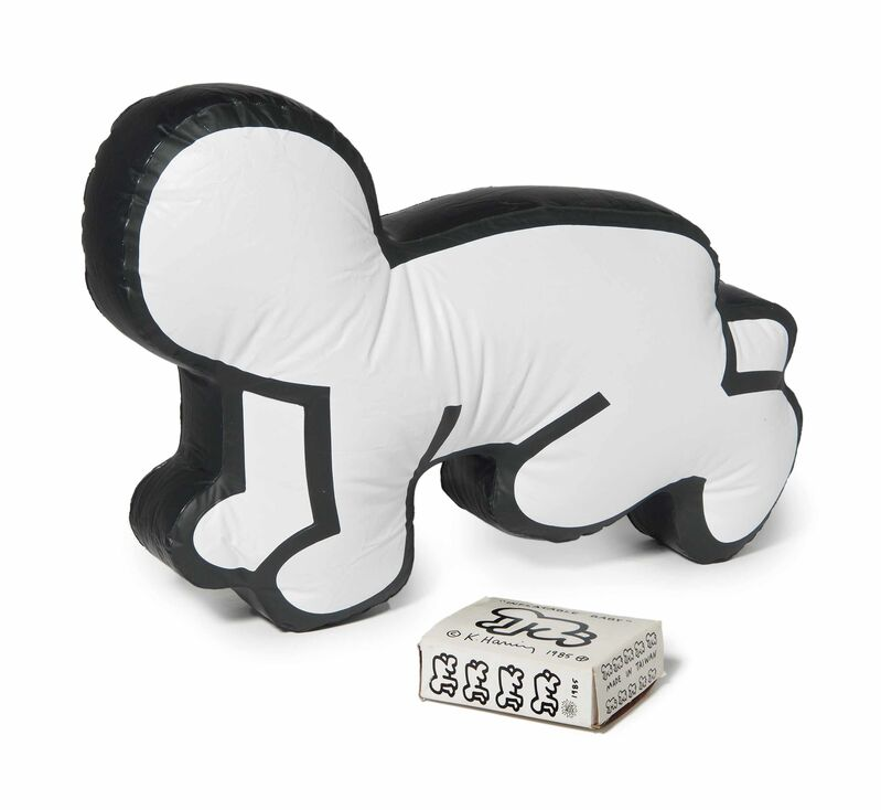 Keith Haring, 'Keith Haring Inflatable Baby Haring Pop Shop 1985', 1985, Sculpture, Vinyl figure; screen-printed box., Lot 180