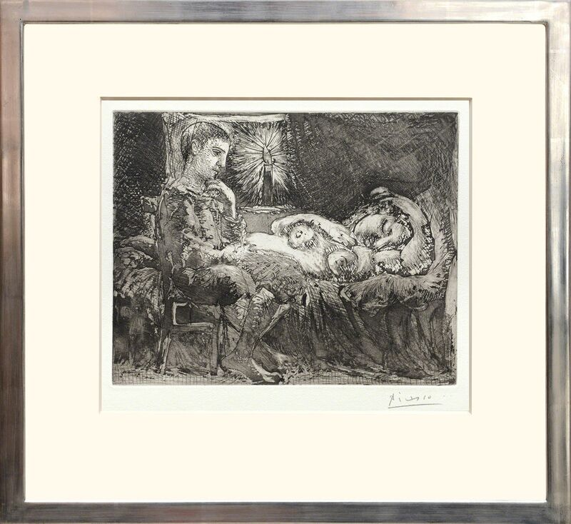 Pablo Picasso, 'Garcon et dormeuse à la chandelle', 1934, Print, Etching, scraper, burin engraving, and aquatint on Montval laid paper with Picasso and Montval watermark, Peter Harrington Gallery