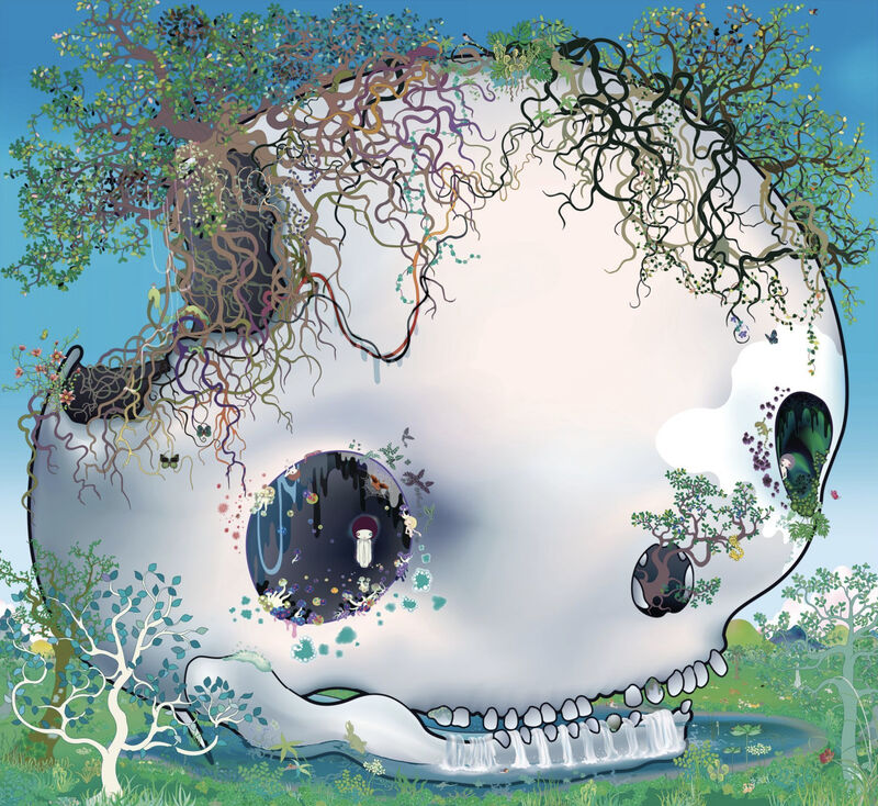 Chiho Aoshima, 'Fountain of the Skull', 2008, Print, Offset Lithograph, Pinto Gallery