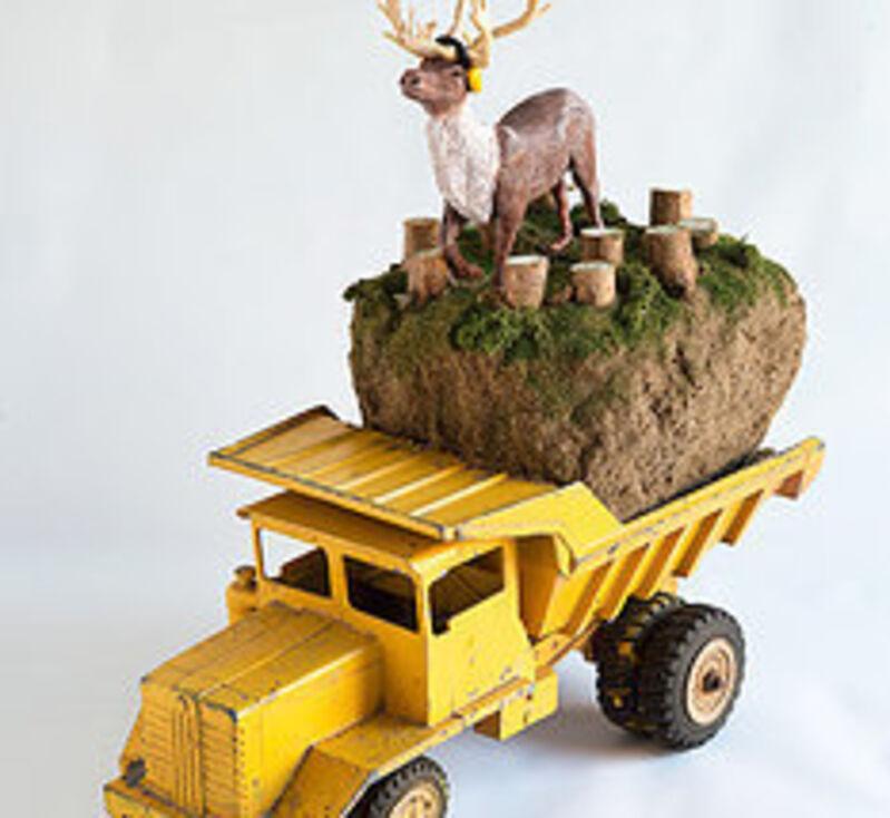 Karine Giboulo, 'Northern Plan', 2014, Sculpture, Tin toy truck, polymer clay, mix media, Art Mûr