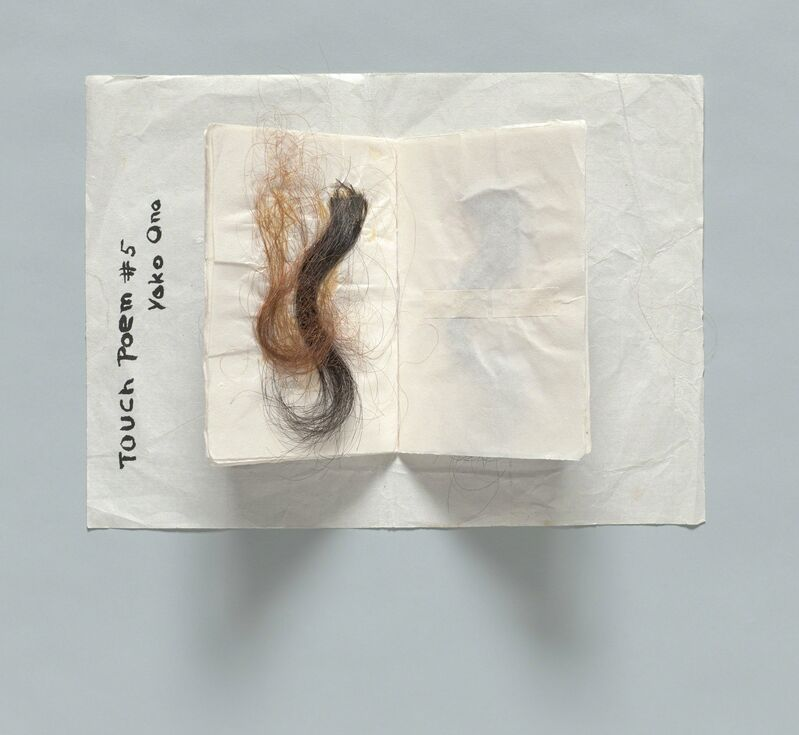 Yoko Ono, 'Touch Poem # 5', ca. 1960, Drawing, Collage or other Work on Paper, Hair, ink on paper, The Museum of Modern Art