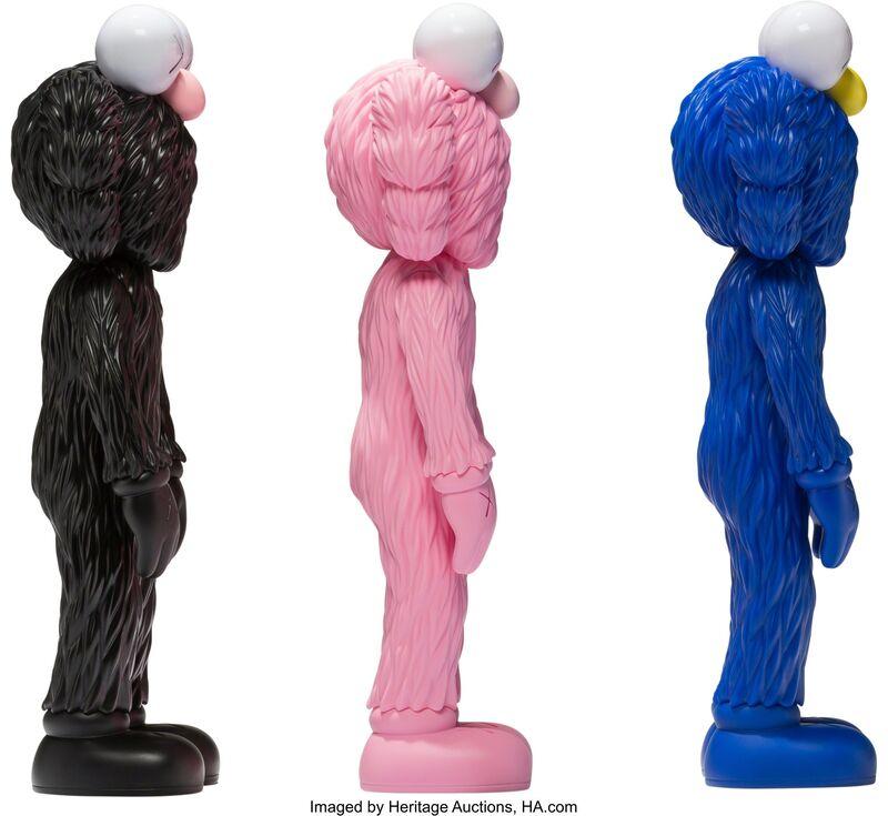 KAWS, 'BFF Companion, set of three', 2018, Sculpture, Painted cast vinyl, Heritage Auctions