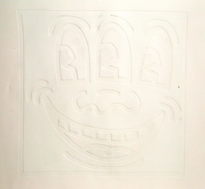 Keith Haring, 'Icons - Three Eyes', 1990, Print, Silkscreen with Embossing on Arches paper, RoGallery