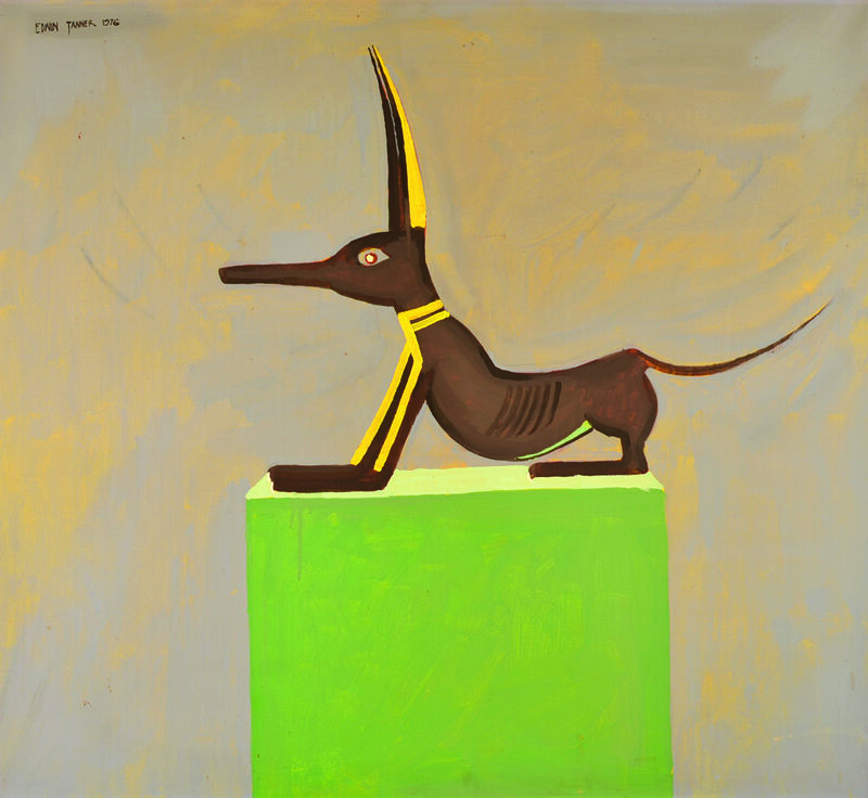 Edwin Tanner, 'Anubis', 1976, Painting, Acrylic on canvas, Charles Nodrum Gallery