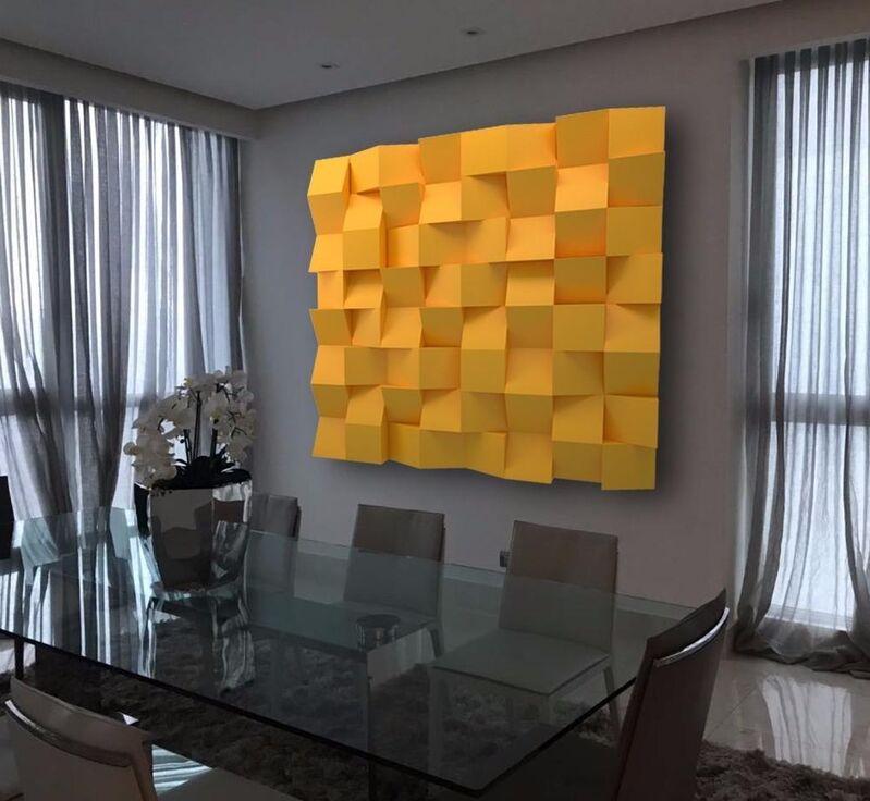 Roberto Rivera, 'Geometría en Amarillo II (64)', 2018, Sculpture, Aura Galerias
