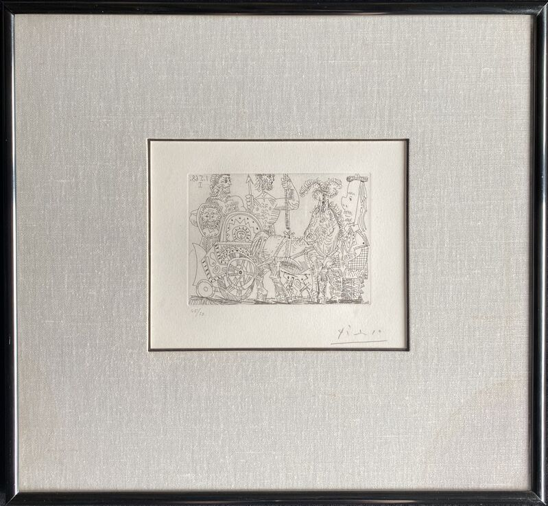 Pablo Picasso, 'Circus: chariot and clown', 1968, Print, Etching, AH Fine Art