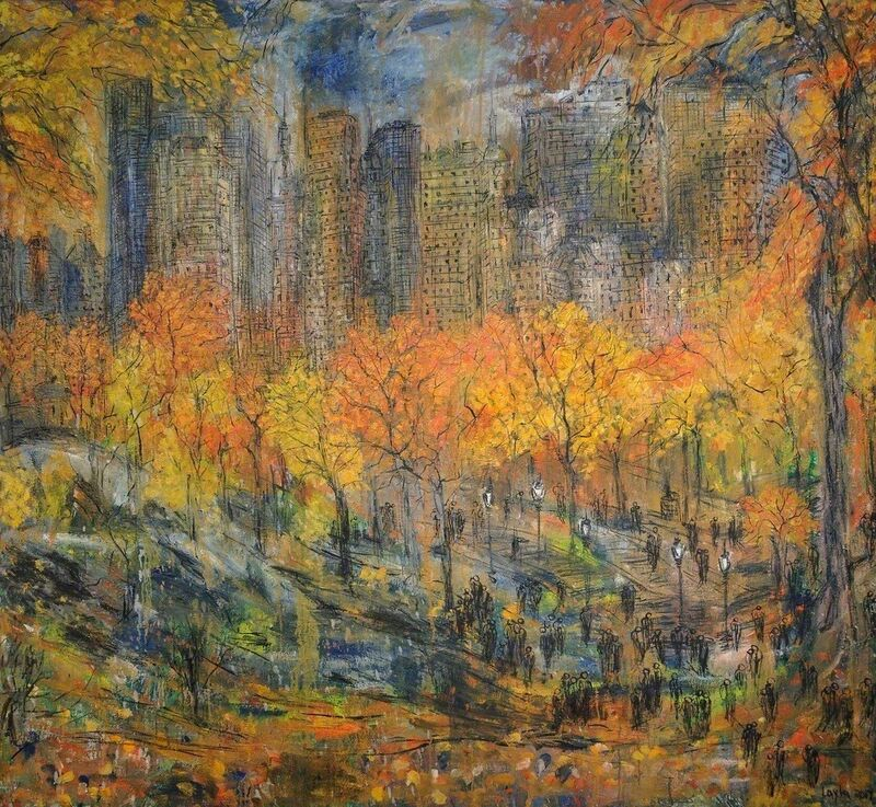 Layla Fanucci, 'New York Central Park Opus 555', 2017, Painting, Oil on linen, Walter Wickiser Gallery