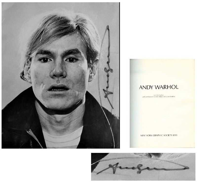 """Andy Warhol, '""""Andy Warhol"""", SIGNED Exhibition Catalogue (complete), New York Graphic Society', 1970, Ephemera or Merchandise, Ink on paper, VINCE fine arts/ephemera"""