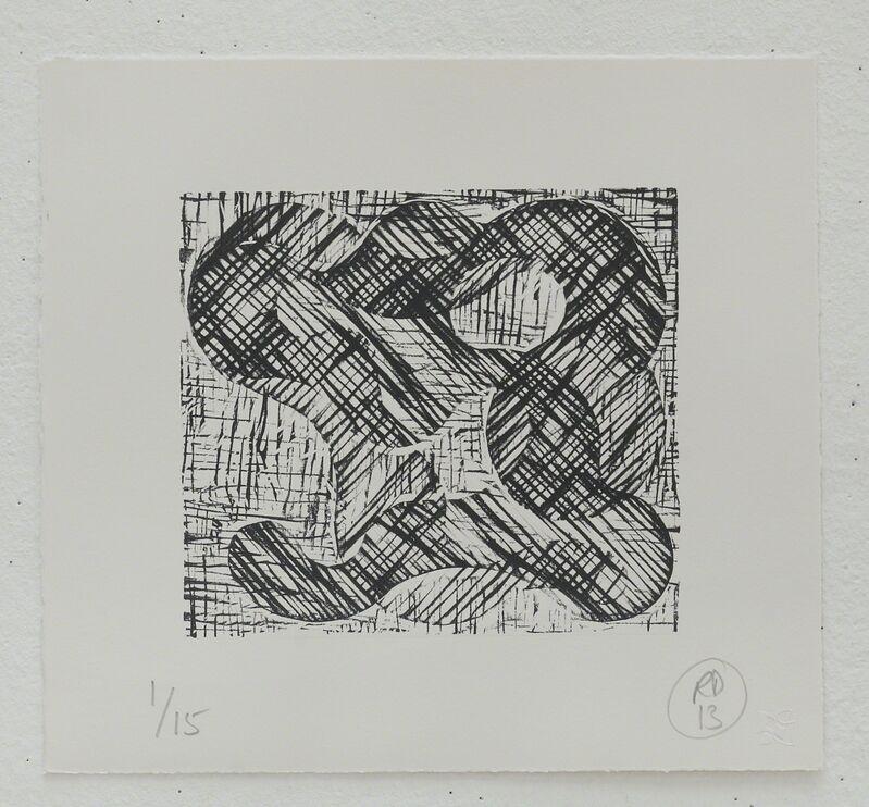 Richard Deacon, '1+1=10 Black/Black', 2013, Print, Relief print, Fabriano 100% cotton paper, STPI