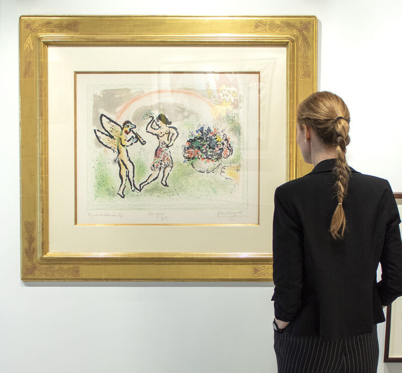 Marc Chagall, 'Bacchante', 1973, Print, Lithograph, Heather James Fine Art