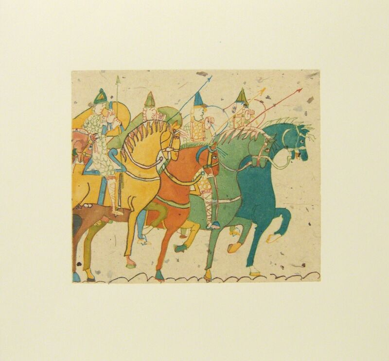 Laura Owens, 'Untitled (Horses)', 2006, Print, Hand-colored etching and aquatint, Betsy Senior Fine Art