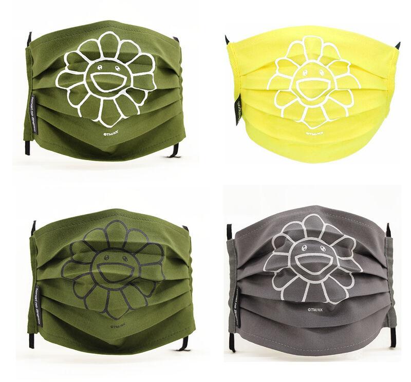 Takashi Murakami, 'Takashi Murakami Kaikai Kiki Flower Face Mask', 2020, Fashion Design and Wearable Art, Polyester, Curator Style