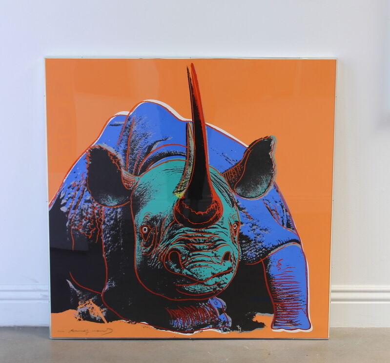 Andy Warhol, 'Black Rhinoceros (FS II.301) ', 1983, Print, Screenprint on Lenox Museum Board, Revolver Gallery