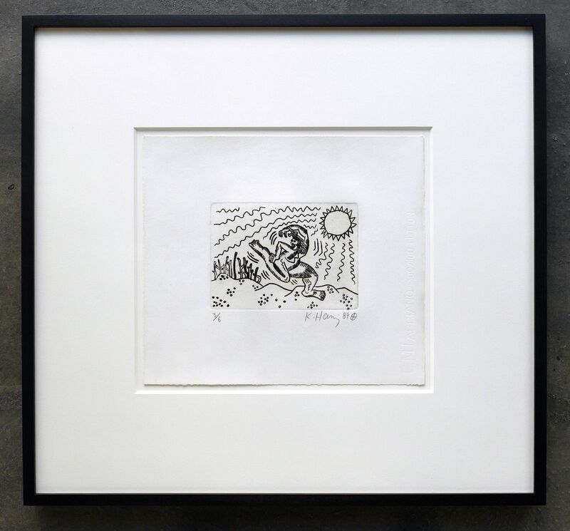 Keith Haring, 'Untitled (VERY RARE, EDITION OF JUST 6)', 1989, Print, Etching on paper, Joseph Fine Art LONDON
