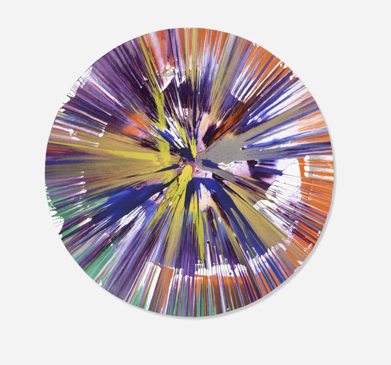 Damien Hirst, 'Circle Spin Painting', 2009, Drawing, Collage or other Work on Paper, Acrylic on paper, Eternity Gallery