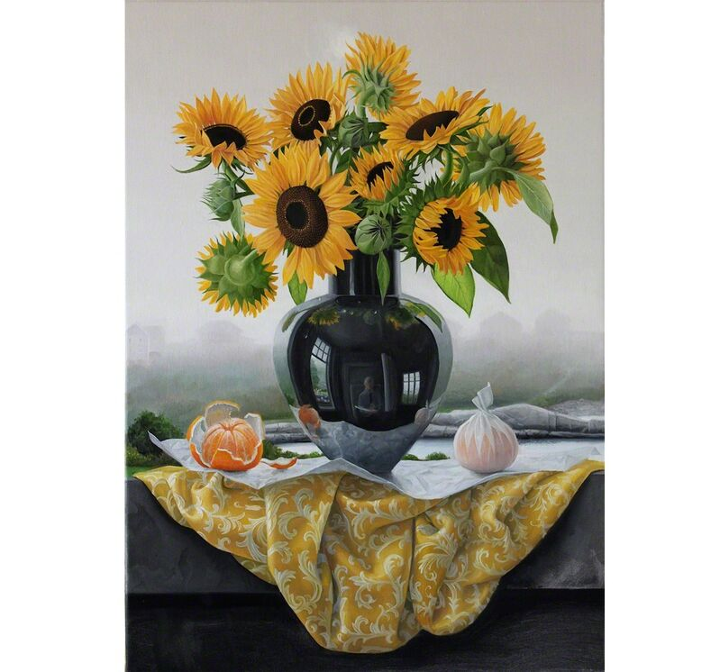 James Aponovich, 'Appledore Sunflowers', 2014, Painting, Oil on Canvas, Clark Gallery