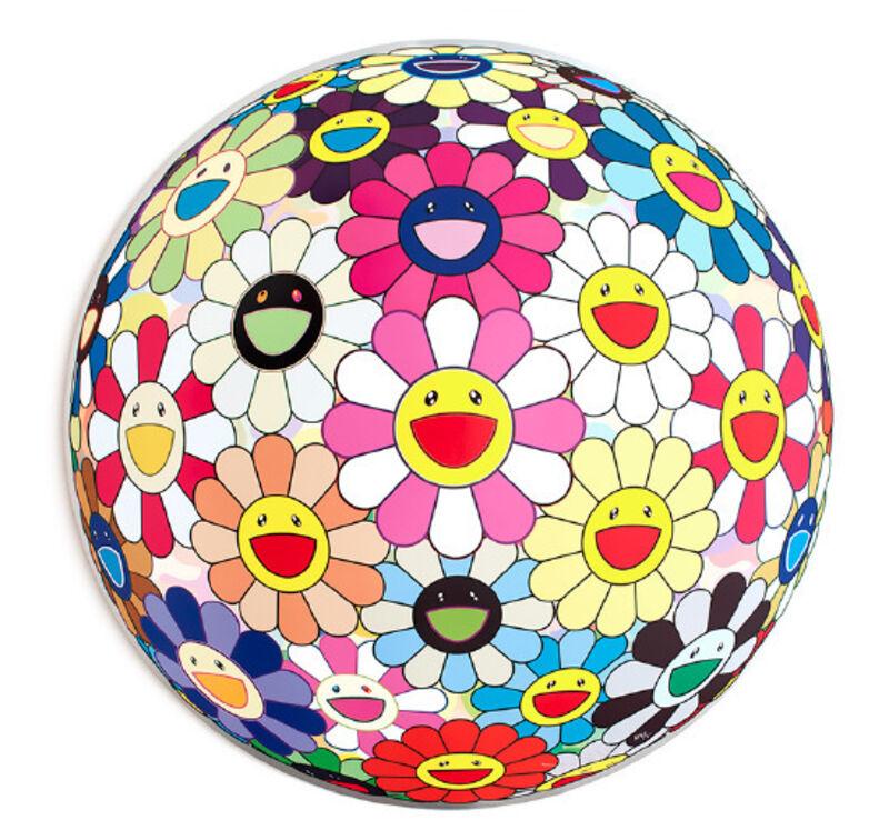 Takashi Murakami, 'Flower Ball (3-D) Pink', 2011, Print, Lithograph, Mary Ryan Gallery, Inc