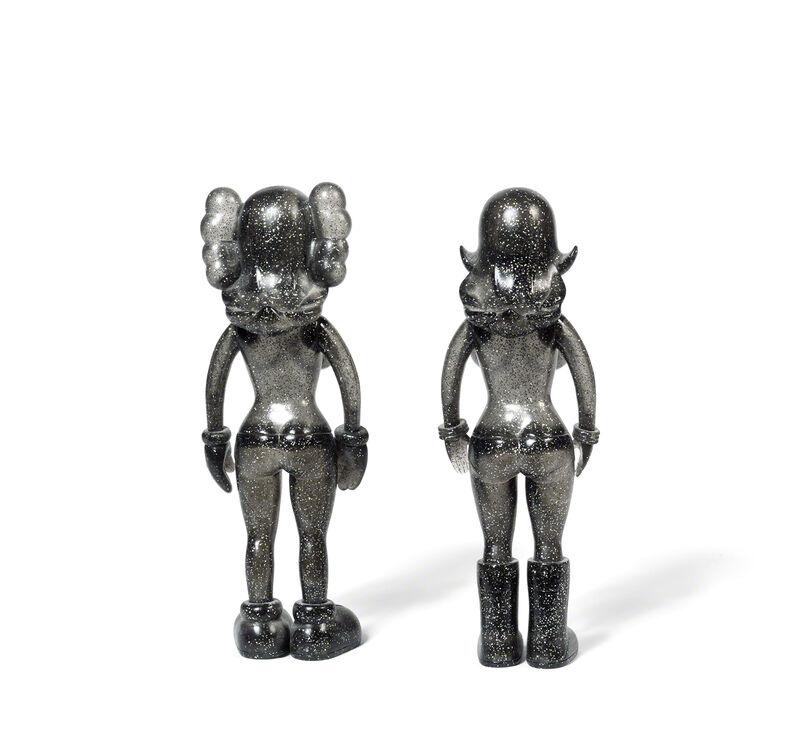 KAWS, 'THE TWINS (Glitter)', 2006, Sculpture, Painted cast vinyl, DIGARD AUCTION
