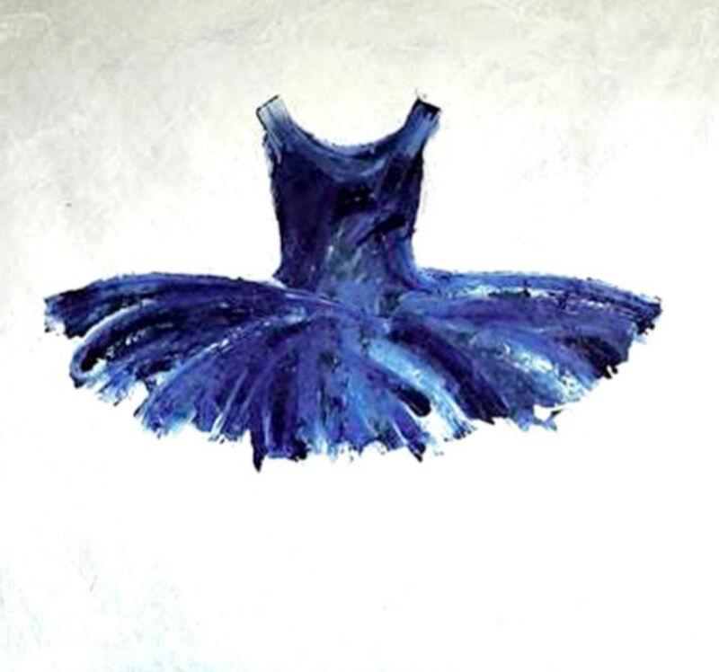 Ewa Bathelier, 'Blue Tutu'', 2017, Painting, Acrylic on Fabric, Galleria Ca' d'Oro