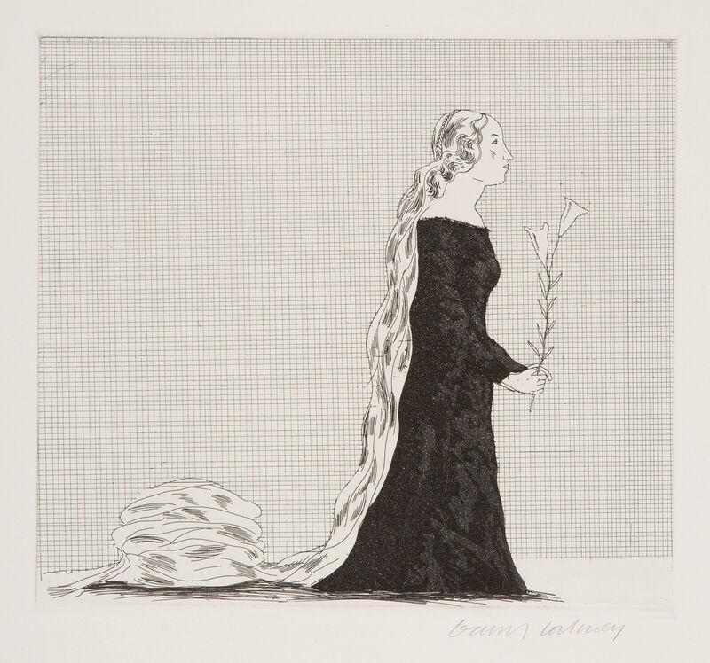 David Hockney, 'The Older Rapunzel', 1969, Print, Etching and Aquatint, Gerrish Fine Art