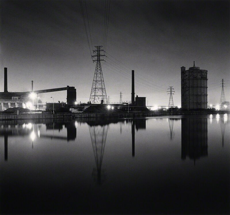 Michael Kenna, 'The Rouge, Study #130, Dearborn, Michigan, USA.', 1993, Photography, Toned gelatin silver print, G. Gibson Gallery