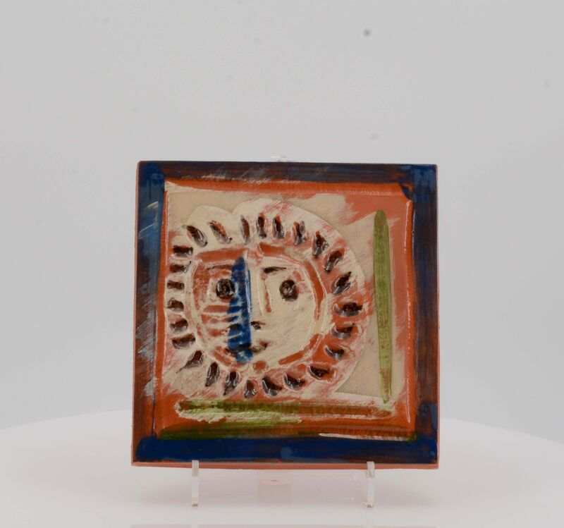 Pablo Picasso, 'Little solar face', 1969, Design/Decorative Art, Red earthenware clay, polychromed and partially glazed, Van Ham
