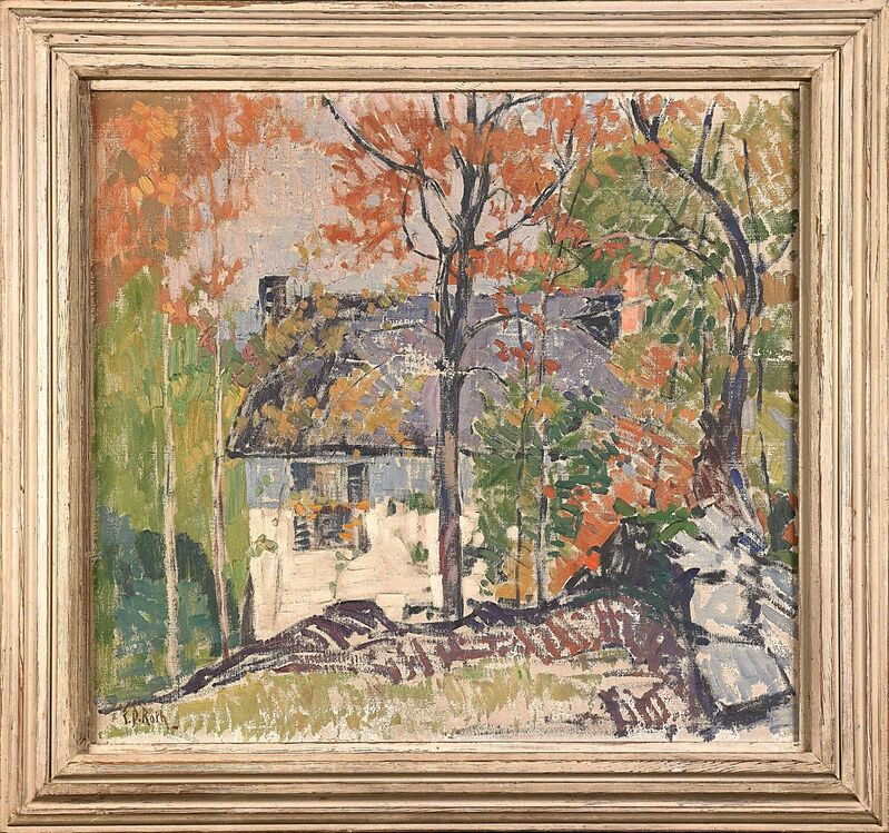 Ernest David Roth, 'Untitled (House in Landscape)', Painting, Oil on canvas (framed), Rago/Wright