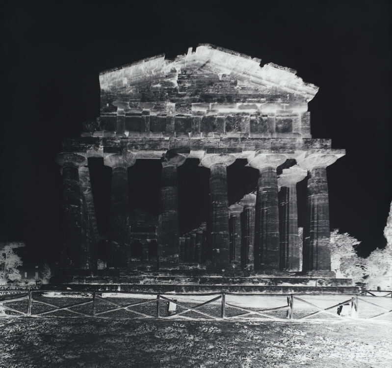 Vera Lutter, 'Temple of Athena, Paestum, VII: October 12, 2015', 2015, Photography, Unique silver gelatin print, mounted on museum board, Carolina Nitsch Contemporary Art