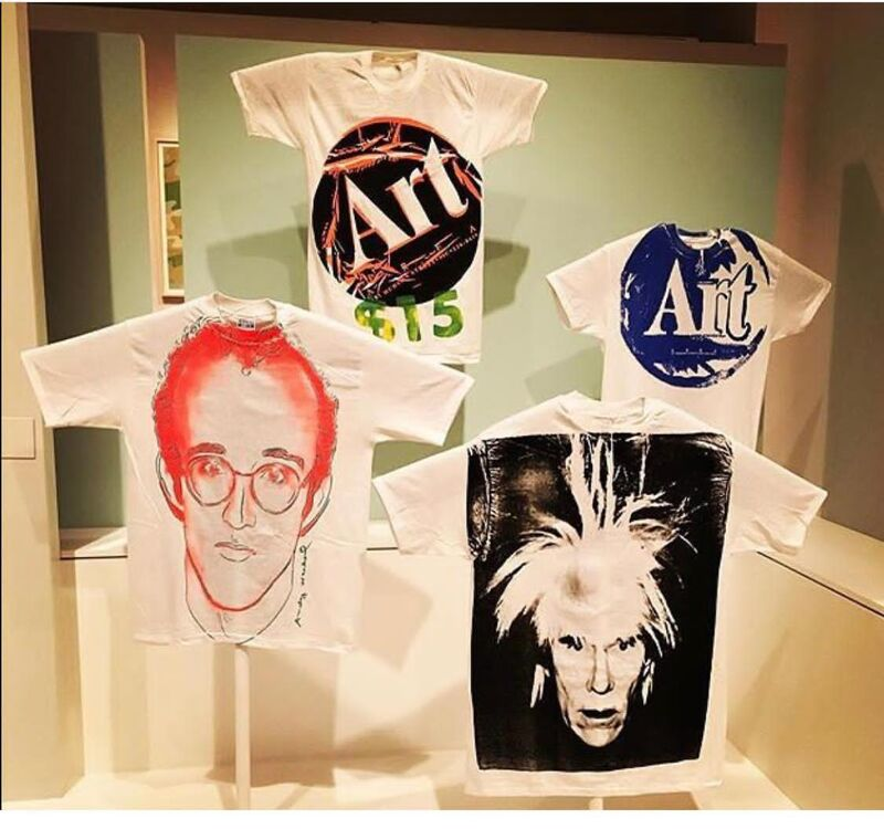 Andy Warhol, 'Keith Haring Portrait', 1984, Print, Screenprint on cotton T-shirt, JF Fine Arts & Verosa
