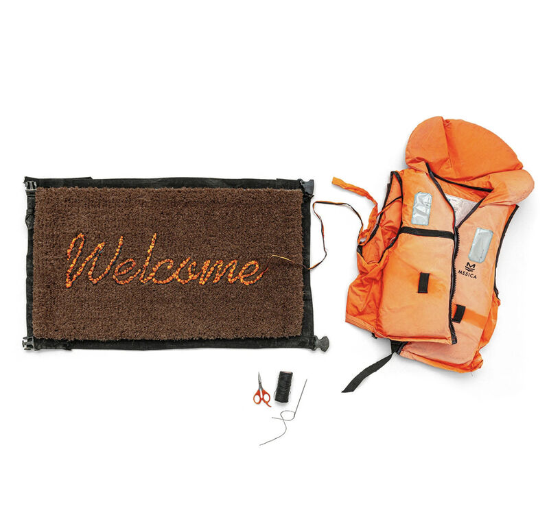 Banksy, 'Welcome Mat', 2020, Mixed Media, Life vests, Dope! Gallery Gallery Auction