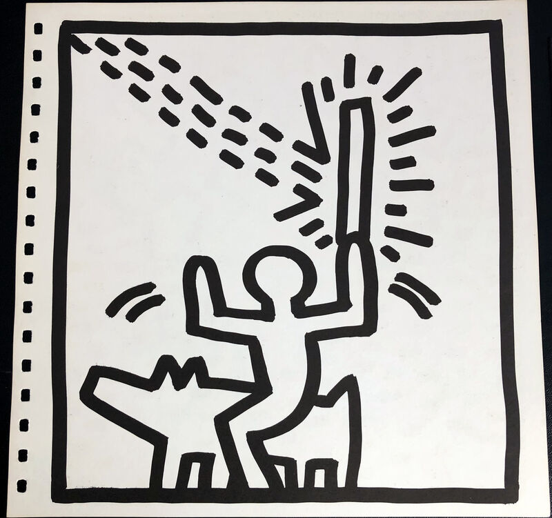 Keith Haring, 'Keith Haring (untitled) Stairs lithograph 1982', 1982, Print, Offset lithograph, Lot 180