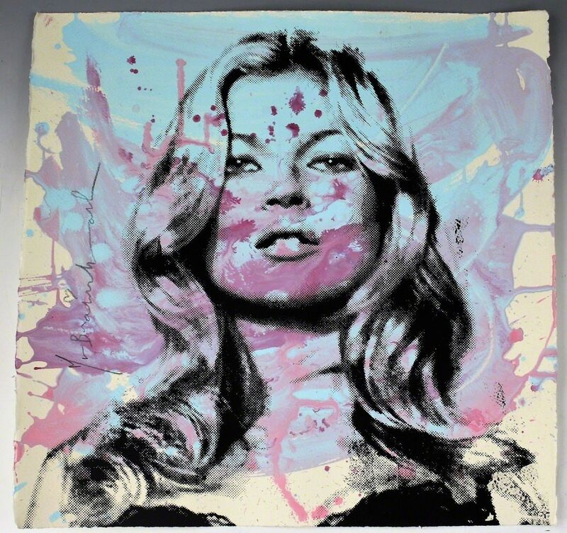 Mr. Brainwash, 'Kate Moss', 2010, Drawing, Collage or other Work on Paper, Acrylic and silkscreen on wove paper, Puccio Fine Art