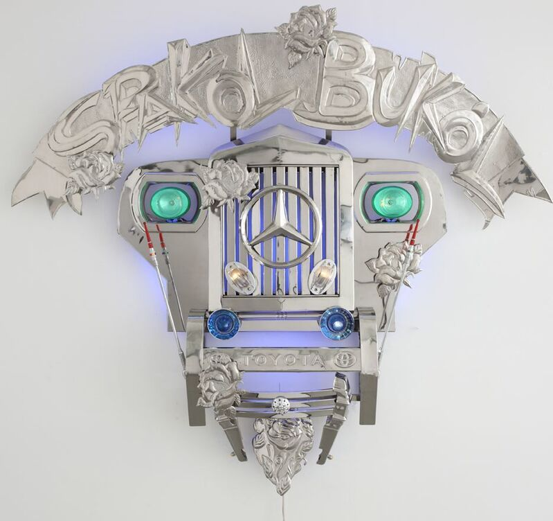 Alfredo and Isabel Aquilizan, 'Transformers I (Spakol-Bukol)', 2010, Installation, Stainless steel, jeep parts & LED lights, Sundaram Tagore Gallery