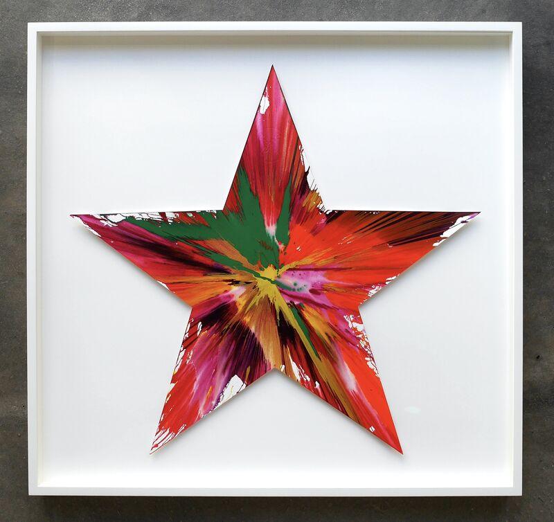 Damien Hirst, 'Star (original Spin Painting)', 2009, Painting, Acrylics on paper, Joseph Fine Art LONDON