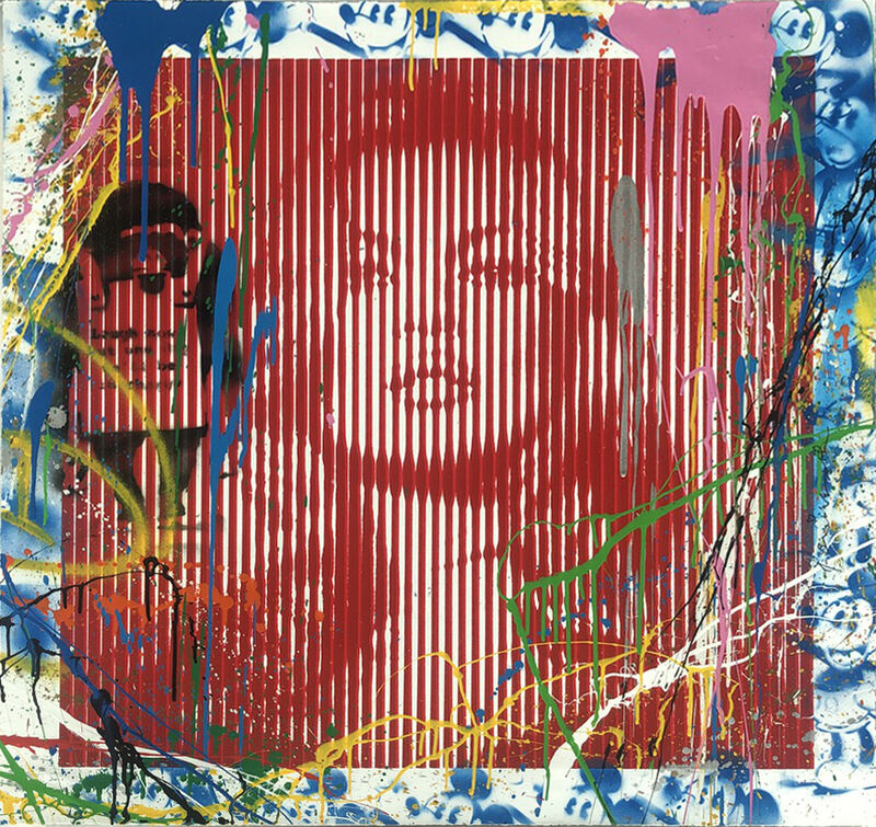 Mr. Brainwash, 'Fame Moss/ Kate Moss Red (Unique)', 2015, Drawing, Collage or other Work on Paper, Mixed Media on Paper, Vanessa Villegas Art Advisory