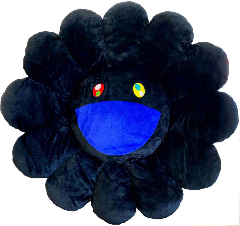 Takashi Murakami, 'Flower Cushion Black', Sculpture, Polyester plush and stuffing, Gin Huang Gallery Gallery Auction