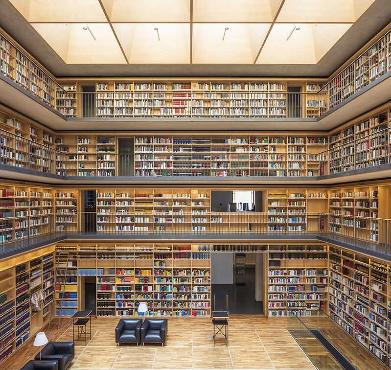 Reinhard Gorner, 'Study Center, Duchess Anna Amalia Library, Weimar, Germany', 2017, Photography, Lambda Print, Undercurrent Projects