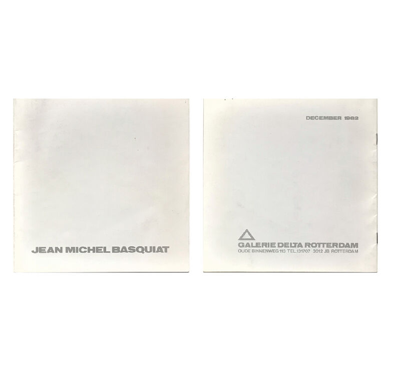"Jean-Michel Basquiat, '""Jean-Michel Basquiat- December 1982"", First Catalogue Published on Basquiat's Work, 1982, Galerie Delta Rotterdam, RARE', 1982, Ephemera or Merchandise, Lithograph on paper, VINCE fine arts/ephemera"