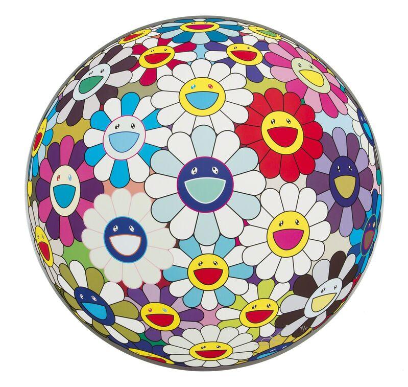 Takashi Murakami, 'Flower Ball (3-D) Sequoia Sempervirens', 2013, Print, Offset lithograph on paper, Julien's Auctions