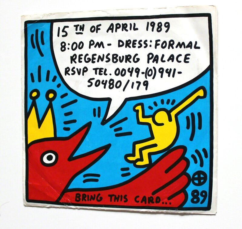 Keith Haring, 'The Prince von Thurn und Taxis Invitation ', 1989, Print, Vinyl Record and Cover, EHC Fine Art