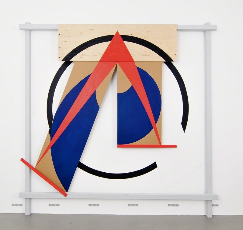 Michael Kidner, 'SPLIT SPHERE ', 1992, Installation, Acrylic on wood, cardboard and wallpaint, Galerie Hubert Winter