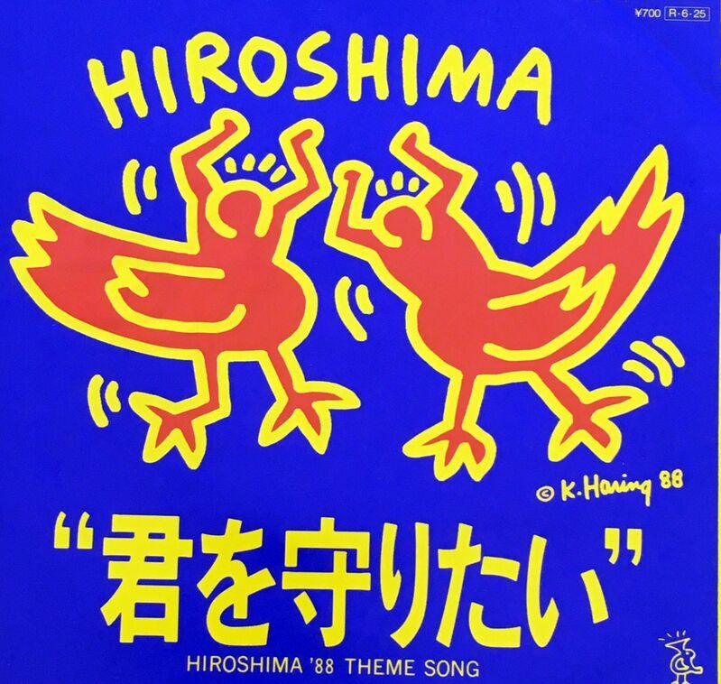 Keith Haring, 'Rare Original Keith Haring Vinyl Record Art (Keith Haring Hiroshima)', 1988, Print, Offset lithograph on record album cover and record labels, Lot 180