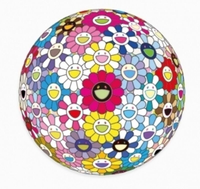 Takashi Murakami, 'Space Show', 2016, Print, Woven paper, four-color offset printing, cold foil stamp, glossy varnish in circular frame, Rita Krauss Fine Art FLA.