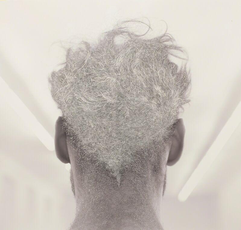 William Mackrell, 'Back of Bernd's head', 2016, Photography, C-pront, scratching, Galerie Krinzinger