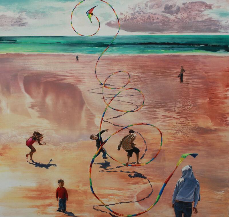 Kay Bradner, 'Family', 2017, Painting, Oil on aluminum, Sue Greenwood Fine Art