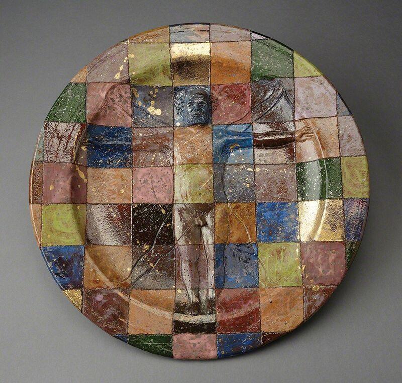 Robert Arneson, 'Vitruvian Man or A Question of Measure or Checkered Plate', 1978, Design/Decorative Art, Ceramic, Ferrin Contemporary