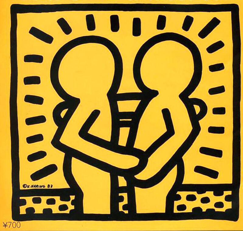 Keith Haring, 'Keith Haring David Bowie Vinyl Record Art (Keith Haring album art)', 1983, Mixed Media, Offset lithograph on album record cover, Lot 180