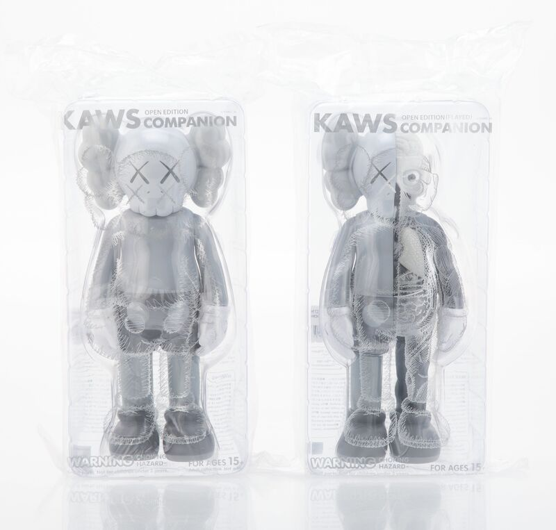 KAWS, 'Companion (Grey) and Dissected Companion (Grey) (two works)', 2016, Sculpture, Painted cast vinyl, Heritage Auctions