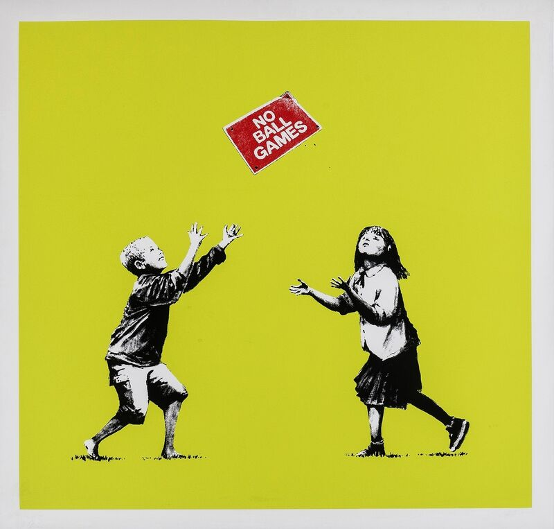 Banksy, 'No Ball Games (Green)', 2009, Print, Screenprint in colours, Forum Auctions